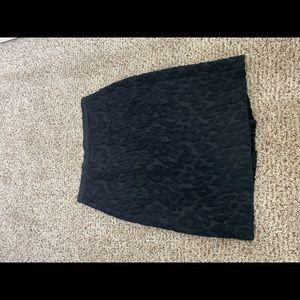 Black velvet patterned skirt
